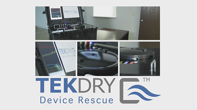 Video demonstration of TekDry's wet mobile device restoration machine