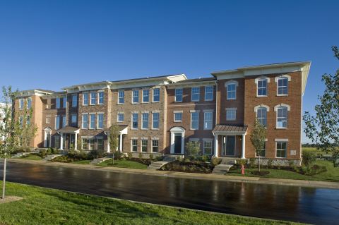 Brand-new Ryland townhomes at 96th and Meridian in Downtown Indianapolis. (Photo: Business Wire)