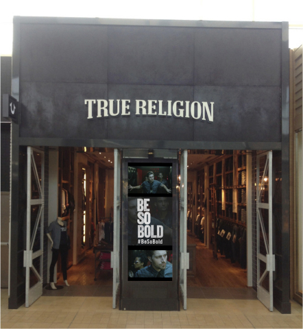 True Religion Digital Window (Photo: Business Wire)