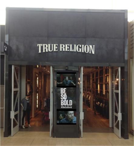 True Religion Digital Window (Photo: Business Wire)