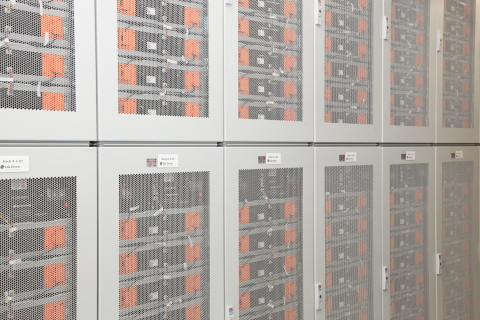 LG Chem battery modules at the heart of one of the world's largest battery energy storage systems. (Photo: Business Wire)
