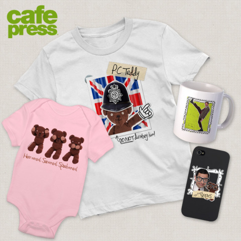 Beloved British Buffoon Mr. Bean Immortalized in E-Commerce store through CafePress and Tiger Aspect ...