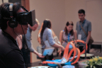 Attendees had the opportunity to immerse themselves in the virtual word and augmented reality courtesy of Art+Science Labs. (Photo: Business Wire)