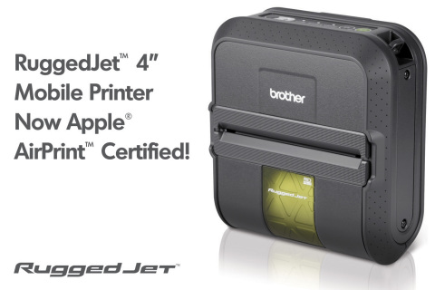RuggedJet(TM) 4 mobile printer featuring Apple AirPrint(TM) allow users to wirelessly print directly from iPad(R), iPhone(R) and iPod Touch devices without the need to download or install drivers or interfaces. (Graphic: Business Wire)