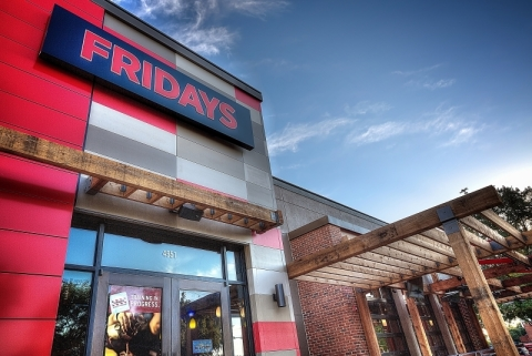 TGI Fridays' new restaurant in Addison, Texas, featuring the brand's new updated, contemporary styling. (Photo: Business Wire)