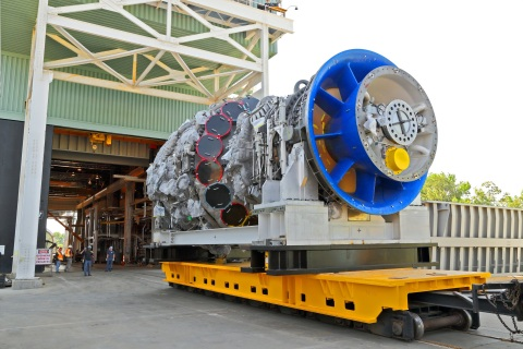 GE's 9HA Gas Turbine at the validation test stand. (Photo: Business Wire)