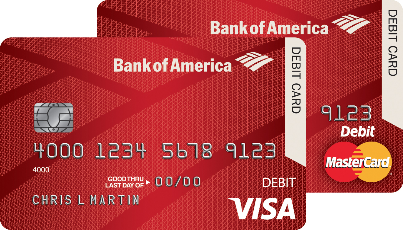 how to customize debit card bank of america