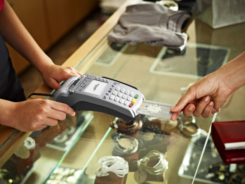 Elavon's new Fanfare loyalty solution for small to mid-sized merchants is now available on VeriFone's countertop payment terminals and PIN pads - the VX 520 and VX 820. (Photo: Business Wire)