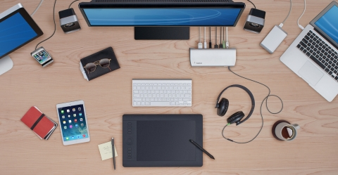 Designed for PC and Mac, Ultrabook, laptop and desktop users, the Belkin Thunderbolt 2 Express Dock HD helps increase productivity, portability and connectivity. (Photo: Business Wire)