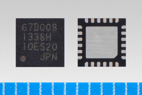 """Toshiba launches sensorless three-phase brushless motor driver """"TB67B008FTG"""" (WQFN24)(Photo: Business Wire)"""