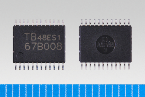 """Toshiba launches sensorless three-phase brushless motor driver """"TB67B008FNG"""" (SSOP24)(Photo: Business Wire)"""