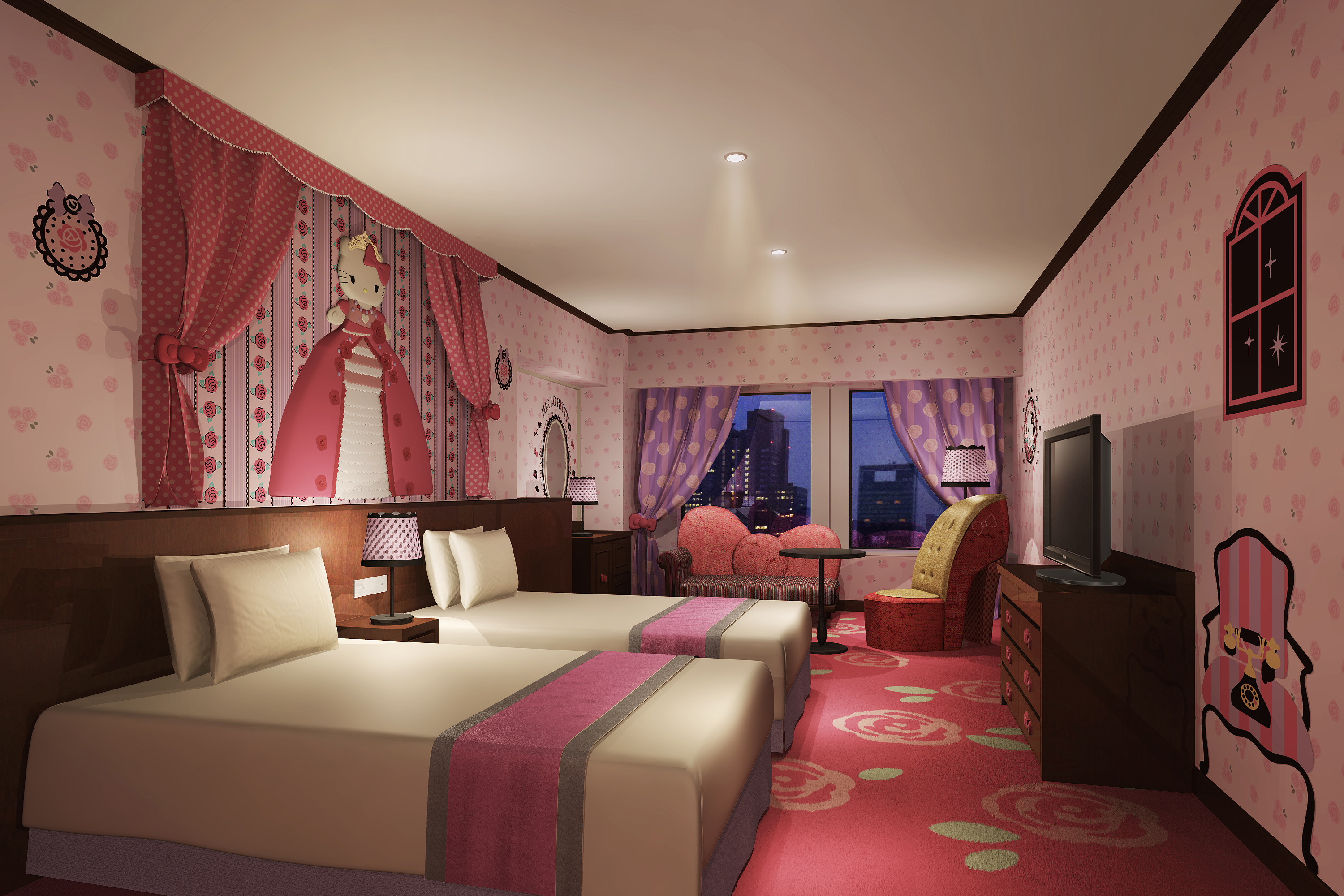 Keio plaza hotel starts hello kitty rooms business wire - Princesse kitty ...