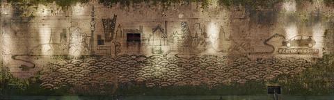 Reverse Graffiti Künstler Moose stellt ikonisches Kuntwerk in Hamburg fertig (Photo: Business Wire).