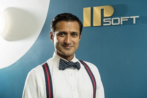 IPsoft創辦人兼執行長Chetan Dube在紐約公司總部(照片來源:Jon Simon/Feature Photo Service)