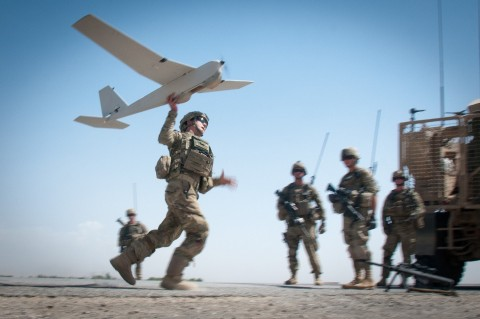 AeroVironment's Puma AE Unmanned Aircraft System (Photo by SGT. Mike MacLeod 1st Brigade Combat Team, 82nd Airborne Division Public Affairs)