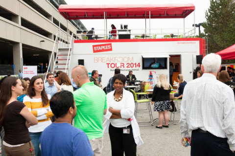 """Staples Launches """"Refresh. Recharge. Refuel."""" Breakroom Tour (Photo: Business Wire)"""