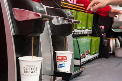 """Visit our mobile """"pop-up"""" breakroom to enjoy free refreshing snacks, coffee, and other beverages. (Photo: Business Wire)"""