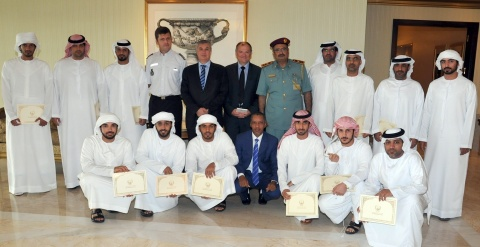 """Group Photo During the graduation of a """"Human Rights"""" course in Abu Dhabi (Photo: Business Wire)"""