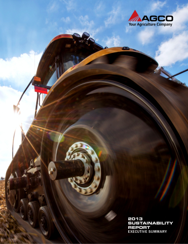 AGCO's 2013 Sustainability Report outlines the Company's Progress in 2013. (Photo: Business Wire)