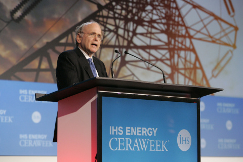 FILE PHOTO: IHS Vice Chairman, Daniel Yergin addresses delegates at IHS CERAWeek 2014 in Houston. Ph