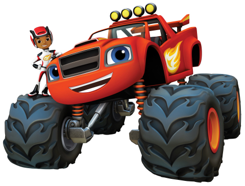 AJ and Blaze (from L to R) in Nickelodeon's animated preschool series Blaze and the Monster Machines. (Photo: Business Wire)