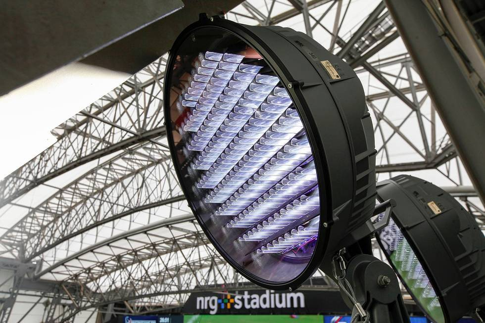 energy efficient led light installation makes history at nrg stadium