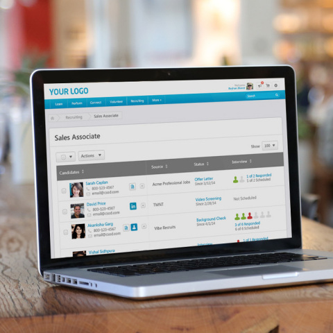 Enhanced user interface for Cornerstone Recruiting (Photo: Business Wire)