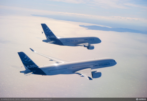 Alcoa today is officially opening the world's largest aluminum-lithium plant in Lafayette, Indiana where it produces advanced, third-generation aluminum-lithium alloys for the aerospace industry, including for the Airbus A380 and A350, shown here. (Photo courtesy of Airbus)