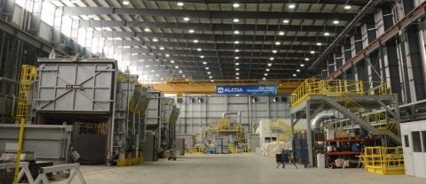Alcoa's aluminum-lithium plant in Lafayette, Indiana, shown here, is the largest of its kind in the world. (Photo: Business Wire)