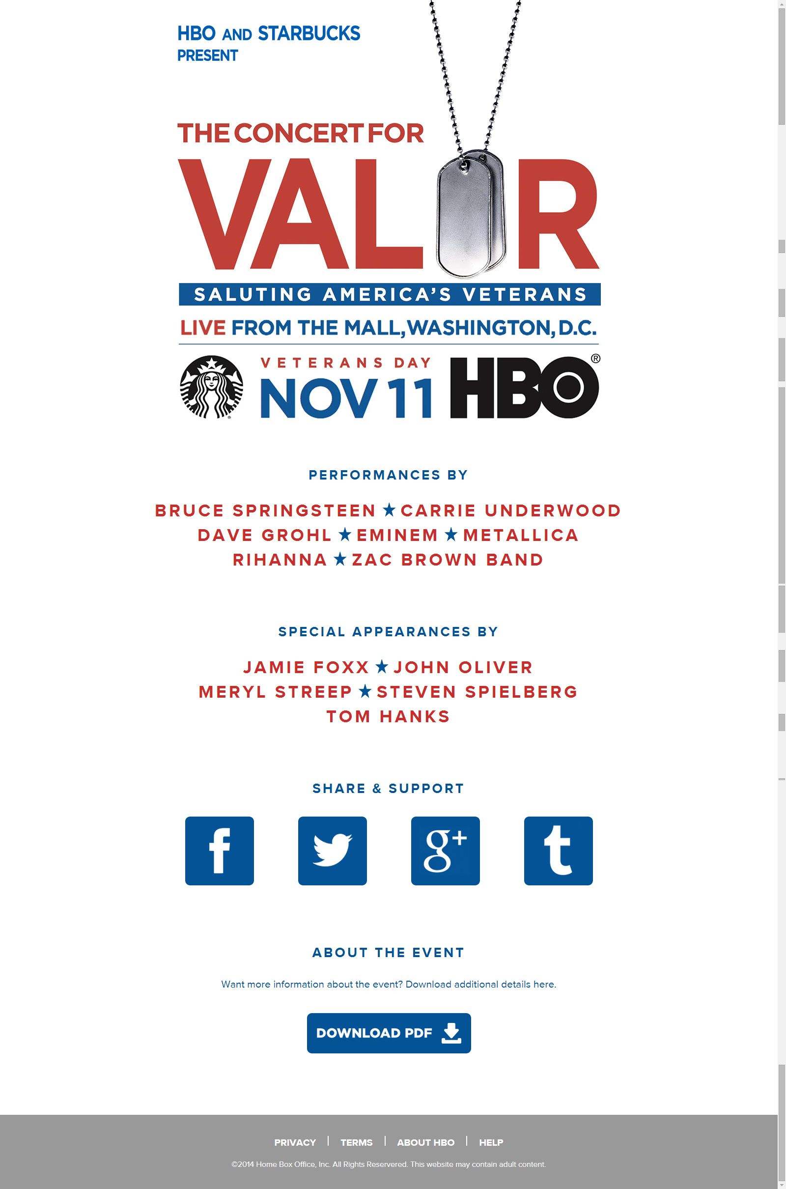 HBO and Starbucks Salute U.S. Veterans and Their Families with the ...