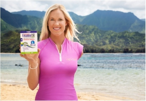 Professional surfer Bethany Hamilton, on location in Hawaii, stars in a new national ad campaign for Cosamin® Joint Health Supplements. (Photo: Business Wire)