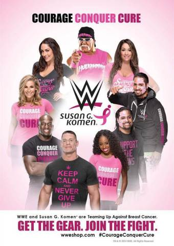 "WWE's ""Courage Conquer Cure"" campaign (Graphic: Business Wire)"