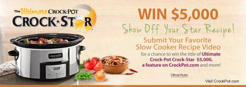 Crock-Pot® brand kicks off the 2014 Ultimate Crock-Pot Crock-Star Contest! (Photo: Business Wire)