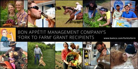 The 10 recipients of Bon Appétit's Fork to Farm grants. (Photo: Business Wire)