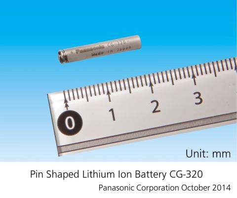ピン型リチウムイオン電池(写真:ビジネスワイヤ)