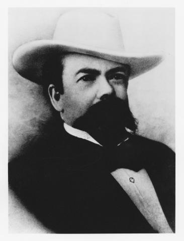 Portrait of whiskey distiller Jack Daniel. (Photo: Business Wire)