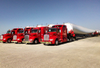 Fort Worth, Texas-based Lone Star Transportation, with nearly 500 tractors, including a dedicated team of owner-operators, and 1,500 diverse open-deck trailers, is now part of the Daseke family of open-deck/specialty carriers. Lone Star is a big player in the renewable energy sector – transporting wind turbine components throughout North America. (Photo: Business Wire)