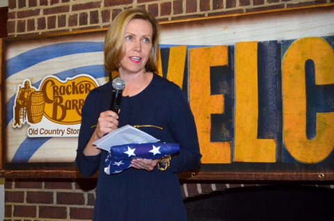Sandra Cochran, CEO of Cracker Barrel Old Country Store Inc., for Operation Purple (Photo: Business