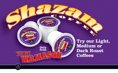 SHAZAMTM will be the first brand to come into the Keurig family from a Keurig Authorized Distributor.