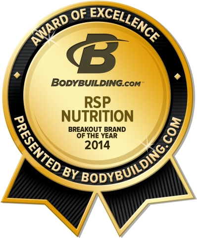 RSP Nutrition wins the 2014 Bodybuilding.com Award for Breakout Brand of the Year. (Graphic: Business Wire)