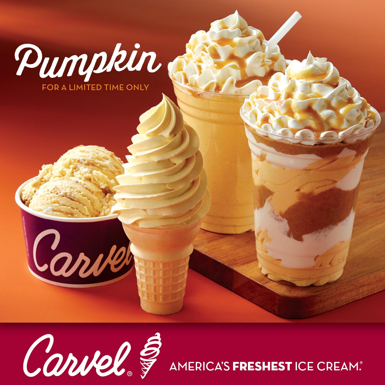 Adding Multimedia Carvel Unveils New Pumpkin Pie Ice Cream Treats