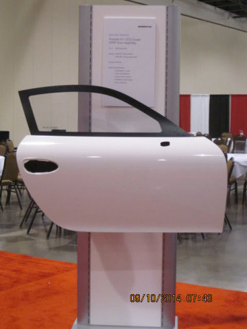 Assembled door body of carbon fiber composite made with Momentive Specialty Chemicals epoxy resin system (Photo: Business Wire)