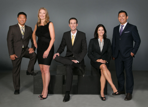 (from left to right) Chief Operating Officer Tei Baishiki, VP of Marketing and Events Christine Dwiggins, Chief Executive Officer James Dwiggins, VP of Sales Charis Moreno, Vice President Imran Poladi (Photo: Business Wire)