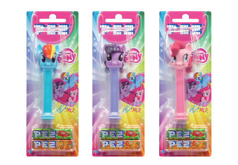 A MY LITTLE PONY-branded line of PEZ dispensers will be unveiled at Brand Licensing Europe in Olympia, London (Oct. 7 – 9).  Under a licensing agreement between Hasbro, Inc. and PEZ International, the dispensers will start to roll out worldwide in early 2015.  (Photo: Business Wire)