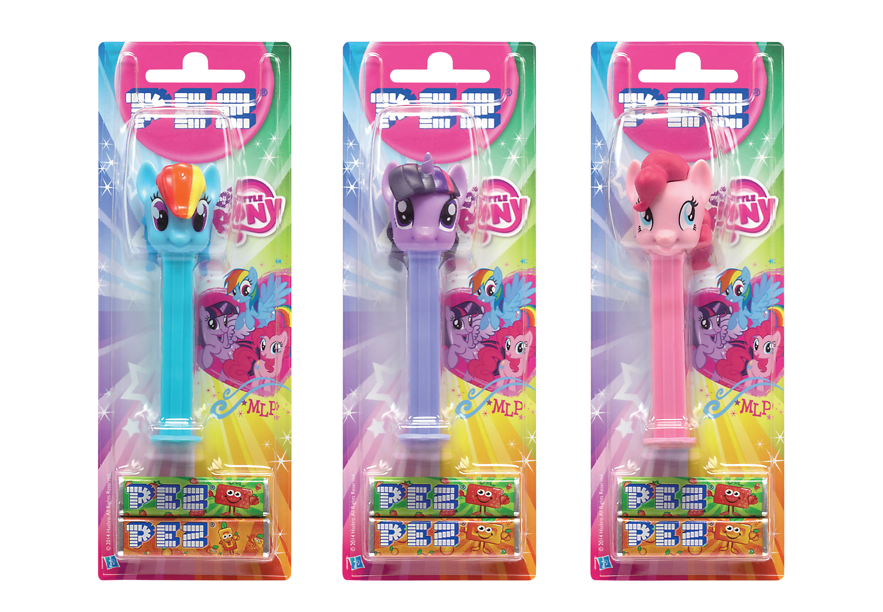 PEZ * My Little Pony Dispensers * * regular Set of 4