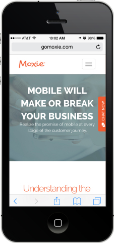 Moxie Unveils Mobile Chat Solution to Drive Sales and Engage Customers Across the Entire Digital Journey this Holiday Season (Photo: Business Wire)