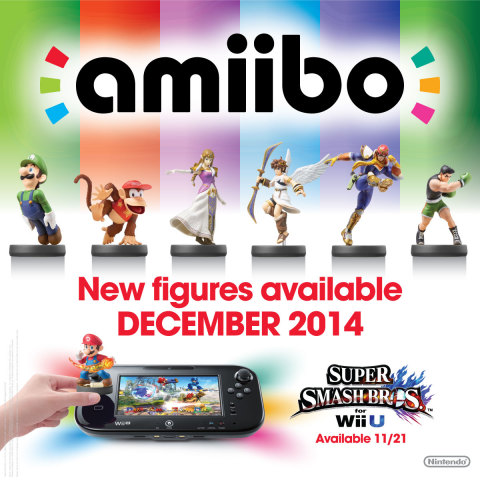 The second wave of amiibo launches in December, and includes Zelda, Diddy Kong, Luigi, Little Mac, Pit and Captain Falcon. (Photo: Business Wire)
