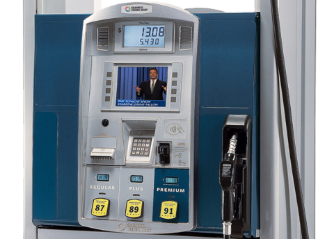 VeriFone's Secure PumpPAY offers a unique mix of advertiser-funded offers, coupons, and other relevant content through VeriFone's VNET - At the Pump media service. (Photo: Business Wire)