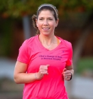 Lizzy is out for a run while training for a recent half-marathon. (Photo: Business Wire)