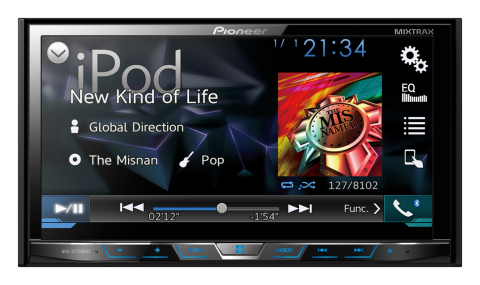 Pioneer AVH-X5700BHS in-dash multimedia DVD receiver (Photo: Business Wire)
